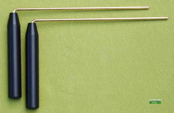 baguette de detection ou rod courte poignées fines