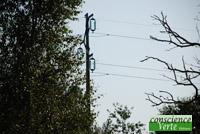 ligne electrique de 63000 volts 100m de la façade de la maison