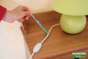 detecteur ne s'allume pas-lampe correctement branchee