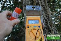 mesure champ magnétique ligne 63000 volts